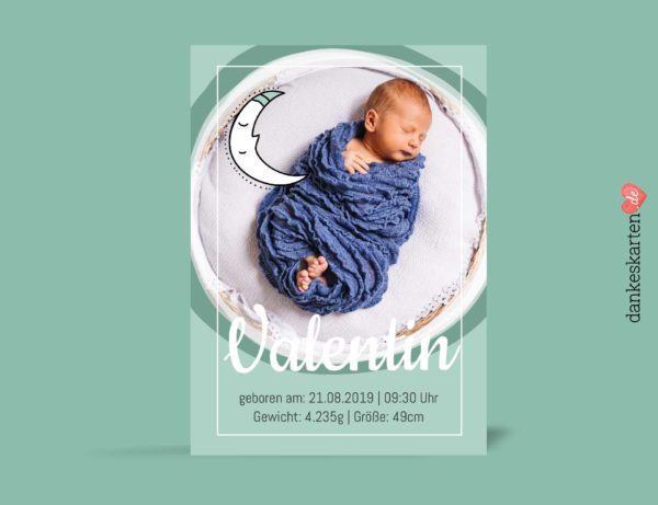Dankeskarte zur Geburt, Geburtskarte
